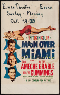 "Moon Over Miami (20th Century Fox, 1941). Window Card (14"" X 22""). Musical"