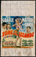 """Movie Posters:Musical, Song of the Islands (20th Century Fox, 1942). Window Card (13.5"""" X 22""""). Musical.. ..."""