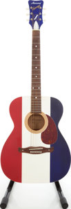 Musical Instruments:Acoustic Guitars, 2000s Harmony Sovereign Model 6364AP American Pride Re-Issue Red,White and Blue Acoustic Guitar....