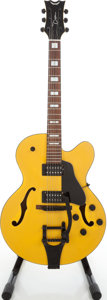 Musical Instruments:Electric Guitars, Circa 1995 Dean Psychobilly Cabbie Yellow Archtop ElectricGuitar....