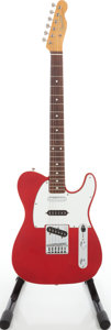 Musical Instruments:Electric Guitars, 1980s Fender '62 Telecaster Custom Re-Issue Candy Apple Red SolidBody Electric Guitar....