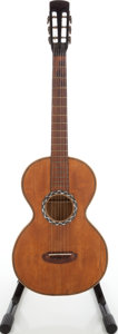 Musical Instruments:Acoustic Guitars, 1930s No Name European Natural Acoustic Parlor Guitar. ...