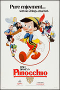 "Movie Posters:Animation, Pinocchio & Other Lot (Buena Vista, R-1984). One Sheets (2) (27"" X 41"") SS & DS. Animation.. ... (Total: 2 Items)"