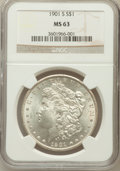 Morgan Dollars: , 1901-S $1 MS63 NGC. NGC Census: (479/697). PCGS Population(972/1128). Mintage: 2,284,000. Numismedia Wsl. Price for proble...