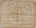 Autographs:Military Figures, [George III]. Ships Document Regarding Share of Capture from the Reign of George III. Dated 1st July 1815. Not signed. Very ...