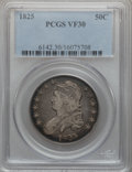 Bust Half Dollars: , 1825 50C VF30 PCGS. PCGS Population (38/1132). NGC Census:(30/959). Mintage: 2,900,000. Numismedia Wsl. Price for problem ...