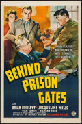 "Movie Posters:Crime, Behind Prison Gates (Columbia, 1939). One Sheet (27"" X 41""). Crime.. ..."