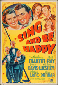 "Sing and Be Happy (20th Century Fox, 1937). One Sheet (27"" X 41""). Musical"
