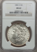 Morgan Dollars: , 1880-O $1 MS62 NGC. NGC Census: (1824/2882). PCGS Population(2429/3423). Mintage: 5,305,000. Numismedia Wsl. Price for pro...