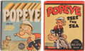 Big Little Book:Miscellaneous, Big Little Book Popeye Group (Whitman, 1936-37) Condition: AverageFN/VF.... (Total: 2 Comic Books)