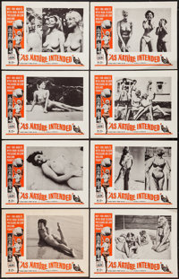 """As Nature Intended (Crown International, 1961). Lobby Card Set of 8 (11"""" X 14""""). Sexploitation. ... (Total: 8..."""