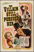 "Movie Posters:Crime, The Villain Still Pursued Her (RKO, 1940). One Sheet (27"" X 41"").Crime.. ..."