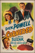 "Movie Posters:Film Noir, Cornered (RKO, 1946). One Sheet (27"" X 41""). Film Noir.. ..."