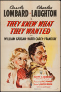 """Movie Posters:Drama, They Knew What They Wanted (RKO, 1940). One Sheet (27"""" X 41""""). Drama.. ..."""