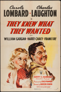 """They Knew What They Wanted (RKO, 1940). One Sheet (27"""" X 41""""). Drama"""