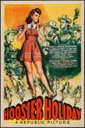 "Movie Posters:Musical, Hoosier Holiday (Republic, 1943). One Sheet (27"" X 41""). Musical.. ..."