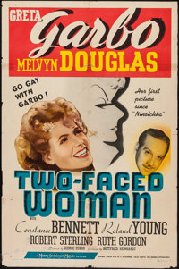 "Two-Faced Woman (MGM, 1941). One Sheet (27"" X 41"") Style C. Comedy"