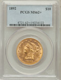 Liberty Eagles: , 1892 $10 MS62+ PCGS. PCGS Population (1318/256). NGC Census:(2960/687). Mintage: 797,400. Numismedia Wsl. Price for proble...