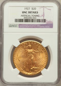 Saint-Gaudens Double Eagles: , 1927 $20 -- Artificially Toned -- NGC Details. Unc. NGC Census: (361/135472). PCGS Population (888/134592). Mintage: 2,946,...