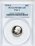 Proof Roosevelt Dimes: , 1979-S 10C Type Two PR70 Deep Cameo PCGS. PCGS Population (263).NGC Census: (61). Numismedia Wsl. Price for problem free ...