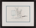 Animation Art:Limited Edition Cel, Bugs Bunny and Daffy Duck Animation Pencil Art - Signed by MelBlanc (undated)....