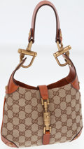 Luxury Accessories:Bags, Gucci Classic Monogram Canvas Mini Jackie Bag with Piston HardwareClosure. ...