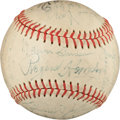 Baseball Collectibles:Balls, 1951 Seattle Rainiers Team Signed Baseball With Rogers Hornsby. ...