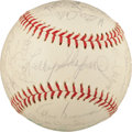 Baseball Collectibles:Balls, 1968 Pittsburgh Pirates Team Signed Baseball With Clemente. ...