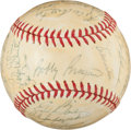 Baseball Collectibles:Balls, 1964 Milwaukee Braves Team Signed Baseball (29 Signatures)....