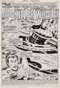 Original Comic Art:Panel Pages, Don Heck and Don Perlin Sub-Mariner #66 Splash Page 1Original Art (Marvel, 1973)....