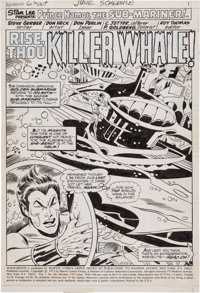 Don Heck and Don Perlin Sub-Mariner #66 Splash Page 1 Original Art (Marvel, 1973)