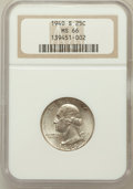 Washington Quarters: , 1940-S 25C MS66 NGC. NGC Census: (454/148). PCGS Population(530/50). Mintage: 8,244,000. Numismedia Wsl. Price for problem...
