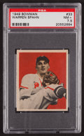 Baseball Cards:Singles (1940-1949), 1949 Bowman Warren Spahn #33 PSA NM+ 7.5....