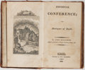 Books:Non-fiction, [Witchcraft]. John Macgowen. Infernal Conference; or, Dialogues of Devils. Tregortha, 1809. Contemporary leather wit...