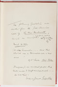 Books:Literature 1900-up, H. G. Wells. INSCRIBED. The New Machiavelli. Duffield, 1910.First American edition, first printing. Signed an...