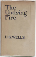 Books:Literature 1900-up, H. G. Wells. The Undying Fire. Cassell, 1919. First edition,first printing. Boards lightly toned and bowed. Offsett...