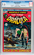 Bronze Age (1970-1979):Horror, Tomb of Dracula #1 (Marvel, 1972) CGC VF- 7.5 Off-white pages....