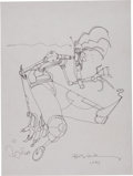 Original Comic Art:Sketches, Bill Sienkiewicz Warlock Convention Sketch Original Art (1987)....