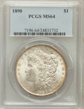 Morgan Dollars: , 1890 $1 MS64 PCGS. PCGS Population (3505/402). NGC Census:(4039/305). Mintage: 16,802,590. Numismedia Wsl. Price for probl...
