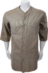 1927-28 Lou Gehrig Game Worn New York Yankees Jersey