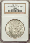 Morgan Dollars, 1921-S $1 MS64 NGC. Ex: Great Falls Collection. NGC Census:(4926/801). PCGS Population (3394/798). Mintage: 21,695,000. Nu...