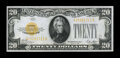 Small Size:Gold Certificates, Fr. 2402 $20 1928 Gold Certificate. Choice About Uncirculated.. ...