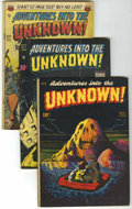 Golden Age (1938-1955):Horror, Adventures Into The Unknown Group (ACG, 1948-50) Condition: AverageGD+.... (Total: 4 Comic Books)