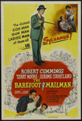 "Movie Posters:Adventure, The Barefoot Mailman (Columbia, 1951). One Sheet (27"" X 41"").Comedy. Starring Robert Cummings, Terry Moore, Jerome Courtlan..."