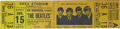 Music Memorabilia:Tickets, Beatles Shea Stadium Unused Concert Ticket (1965). A new worldrecord for a pop concert was created when 56,000 fans attende...(Total: 1 Item)