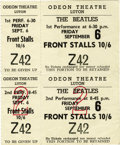 Music Memorabilia:Tickets, The Beatles Unused Ticket to 1963 Performance at the Odeon. Asupercool unused ticket to both of the Beatles' performances ...(Total: 1 Item)