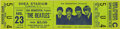 Music Memorabilia:Tickets, Beatles Shea Stadium 1966 Ticket. An unused ticket for their August23, 1966, show in New York, one of their last before ret... (Total:1 Item)