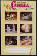 "Movie Posters:Animated, Cinderella (Buena Vista, R-1965). Window Card (14"" X 22""). Animated. Starring the voices of Ilene Woods, Eleanor Audley, Ver..."