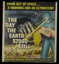 "Movie Posters:Science Fiction, The Day the Earth Stood Still (20th Century Fox, 1951). Window Card(14"" X 15.75""). Science Fiction. Starring Michael Rennie..."