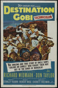"Movie Posters:War, Destination Gobi (20th Century Fox, 1953). One Sheet (27"" X 41"").War. Starring Richard Widmark, Don Taylor, Casey Adams and..."